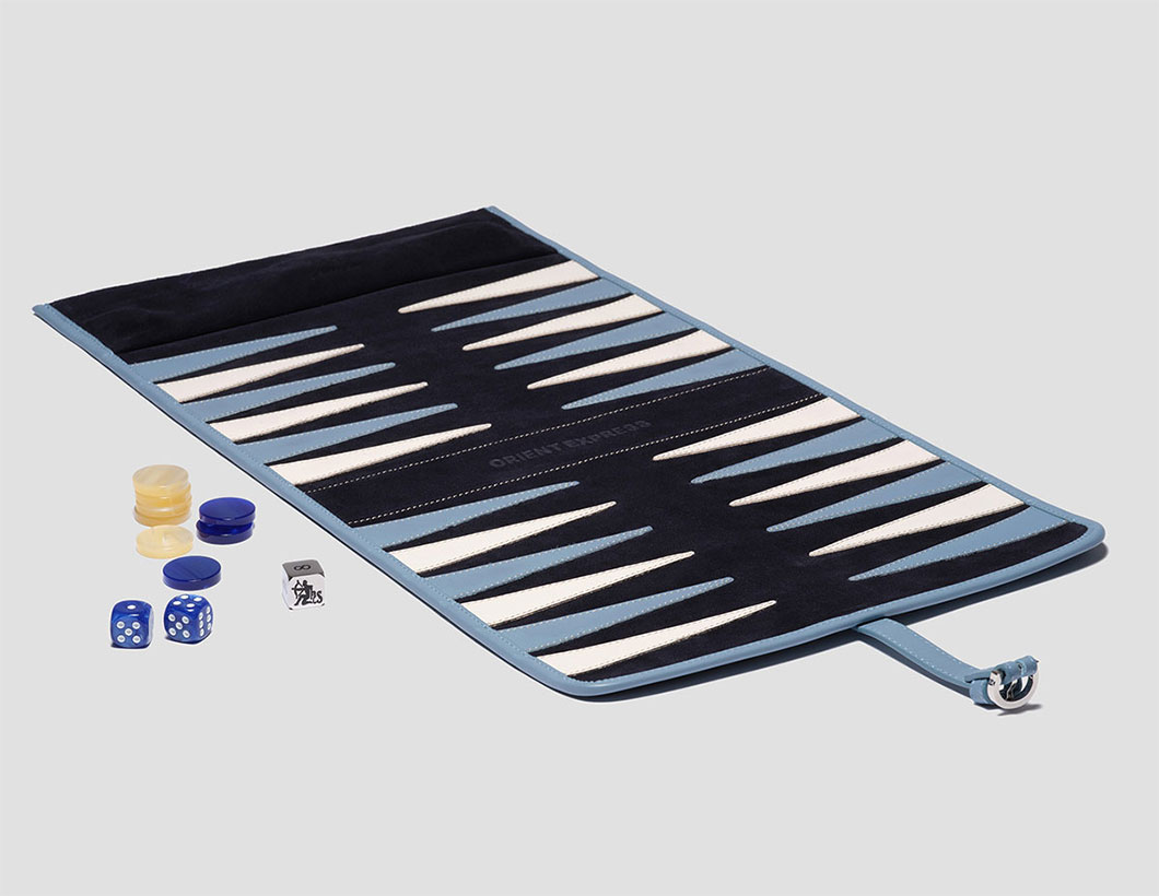 Hector Saxe Roll-up Backgammon Set